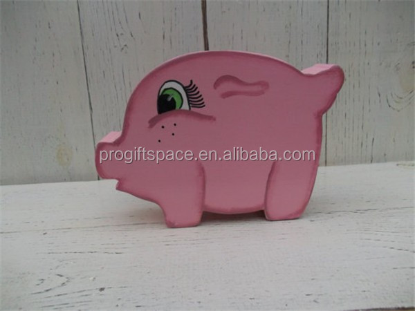 Hot sell wooden Piggy Bank Solid wood Hand Painted made in China