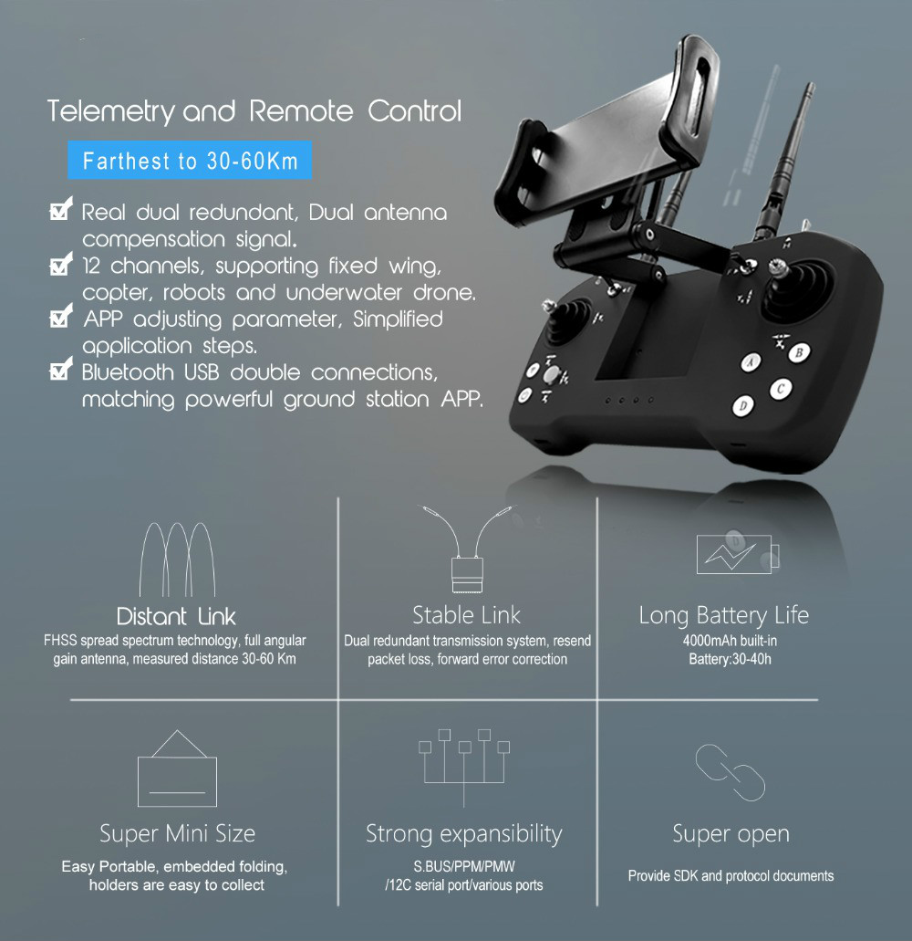 Multi-function remote control for plant protection UAV/Drone