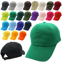 Simple cotton custom embroidered baseball cap style dad hat various colors dad cap and hats