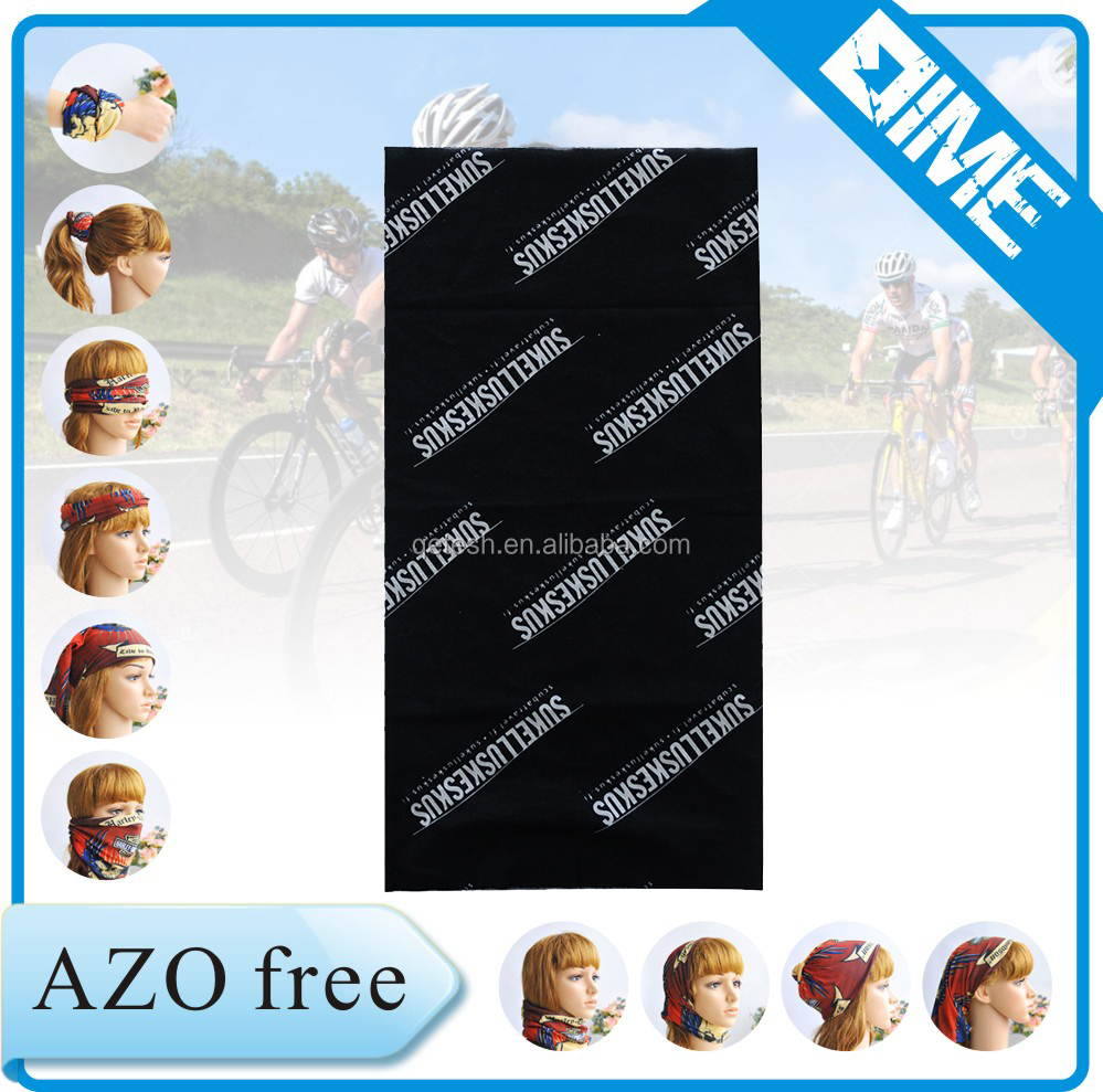New 100% Polyester Stretch Fashion Tube Bandana Stretchy Headbands