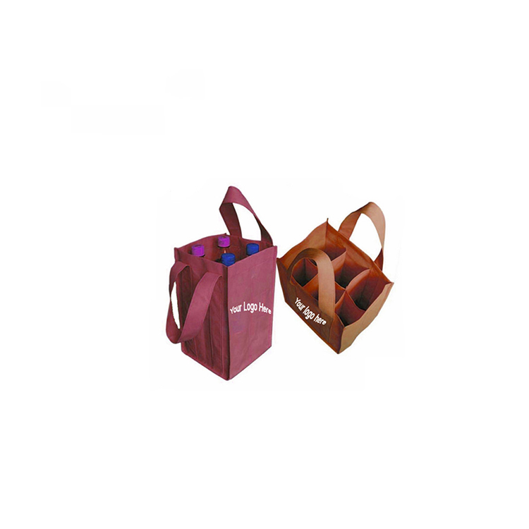 promotional shopping custom print 6 bottle canvas wine carry bag