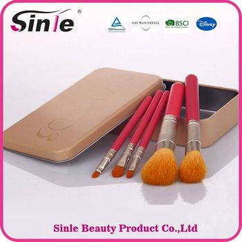 9494acef945 OEM available professional wholesale clear handle rhinestone cosmetic oval  5 piece makeup brush set with case
