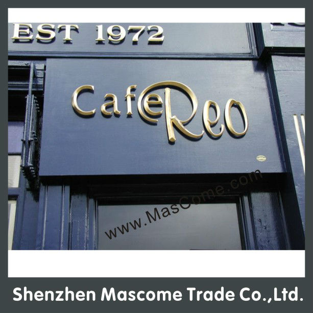 stainless steel sign Copper Titanium Stainless Steel Letter