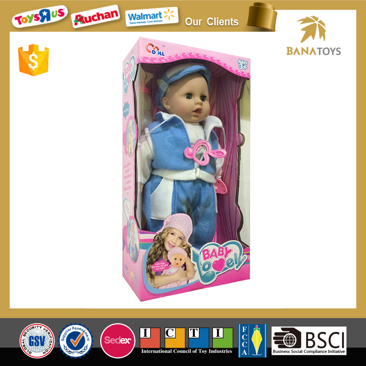 16 inch Modern Plastic American Child Love Baby <strong>Doll</strong> for Crafts Manufacturers