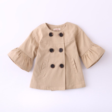 PHB13632 bell sleeve fashion toddler baby trench coats