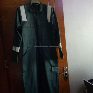 boiler suit all seasons mens 100% cotton green coveralls