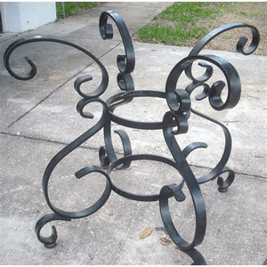 custom ornamental iron table design