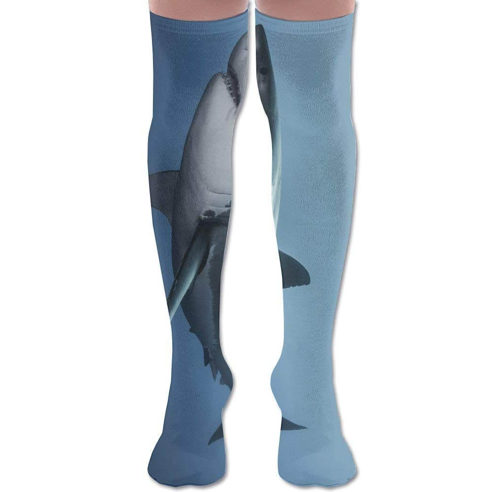 eb3c512da4a03 Get Quotations · YISHOW Shark Women's Fashion Over The Knee High Socks  (60cm)