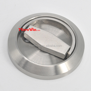 Best Selling Round Shape Stainless Steel Material Flush Door Pull Handle with Pull Ring