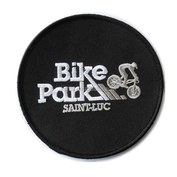 Custom made bike bicycle embroidery patch