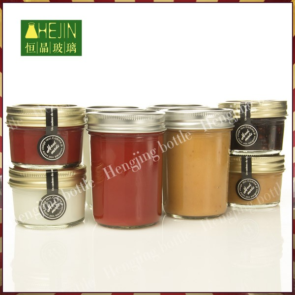 cheap small glass jam jars 125ml with metal closure glass jars and metal lids wholesale buy. Black Bedroom Furniture Sets. Home Design Ideas
