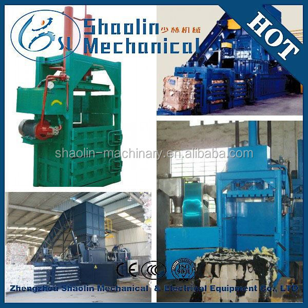 Resource-saving hydraulic cardboard bundling machine with high performance