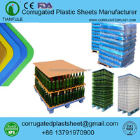 polypropylene 1200 x 1000mm plastic bottles pallet slip sheet