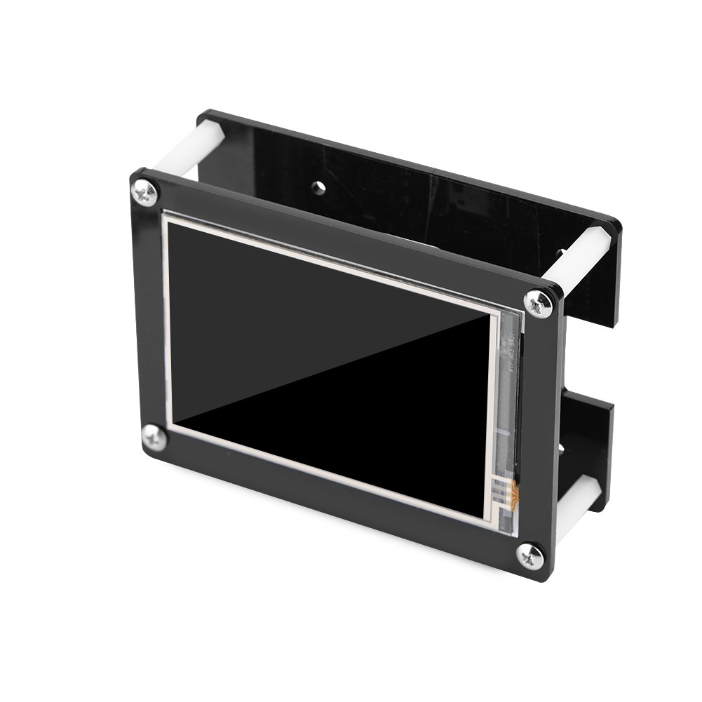 fosa 1080P IPS 60fps 3 5 inch HDMI LCD Screen Display for Raspberry Pi 3  Mode B+,3 Mode B, Pi 2 Model B, Pi Model B+, Pi Model A+ with Black Acrylic