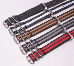 hot selling nylon strap military diver watch strap band nylon webbing strap for watches