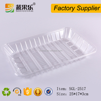 wholesale PET plastic packing tray for fruit vegetable cookie