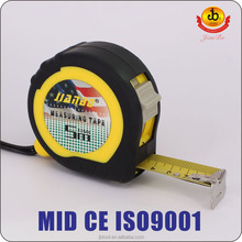 New style 3m 5m self-locking carbon steel retractable tape measure factory/Co-molded steel measuring tape