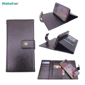 Shockproof Interior Protective PU Leather Magnetic Detachable Wallet Case Card Slots Folio Flip Case For iPhone Xs Max