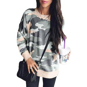 Wholesale Women Sweatshirt Casual Long Sleeve hoodie Pullover Crewneck Print Women Sweatshirt