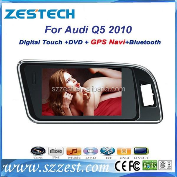ZESTECH Win CE 6.0 high-speed car audio car DVD player GPS for Audi Q5 with 7inch HD digital touch screen+bluetooth