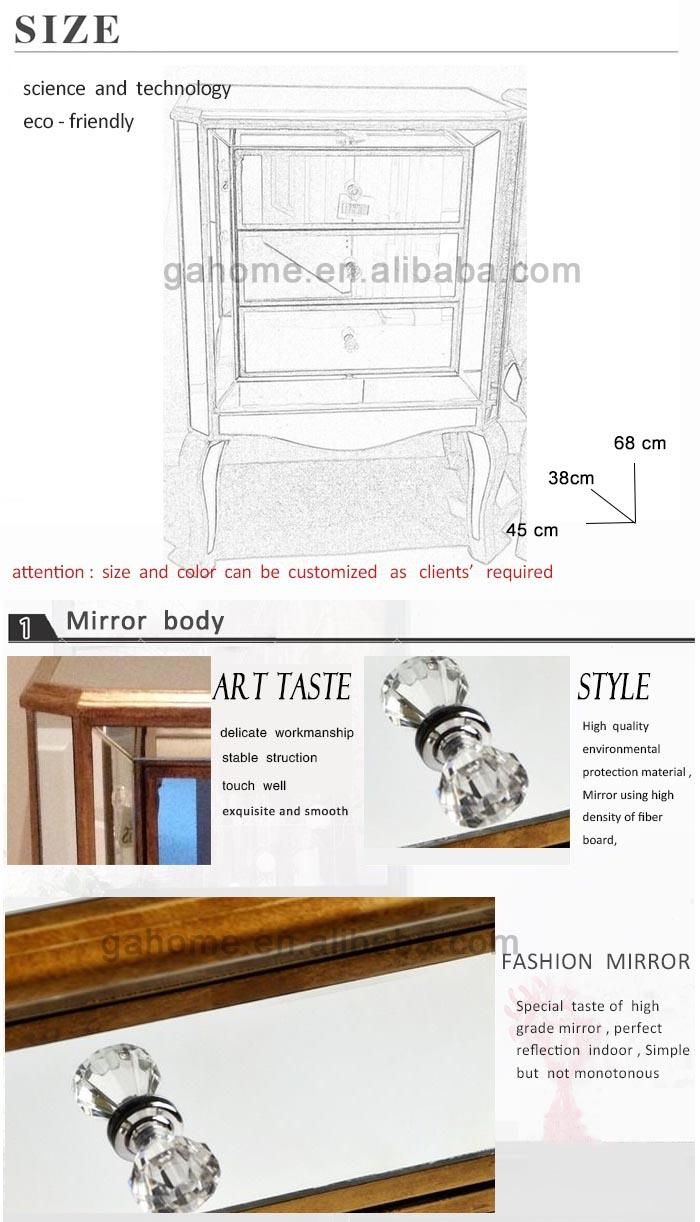 Table De Chevet Miroir Pas Cher pas cher paire de grandes vénitien miroir or moderne 3 tiroirs table de  chevet armoire - buy armoire de table de chevet À 3 tiroirs,table de chevet