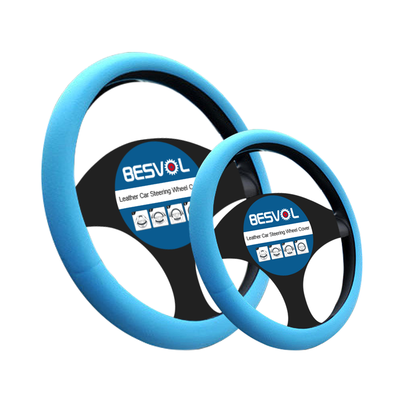 FX-G-053 High quality soft silicone steering wheel cover custom wrap automotive covers