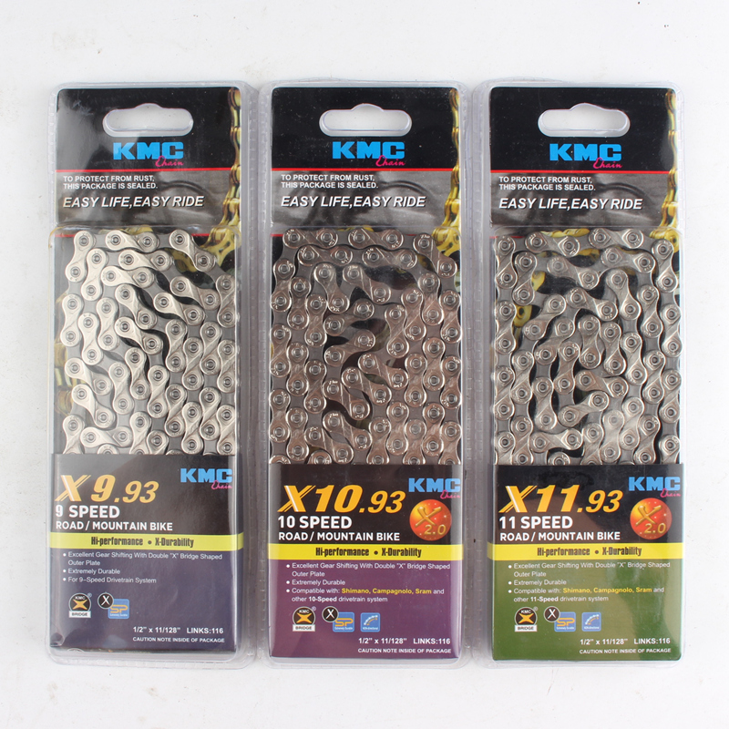 KMC X9SL Mountain Road Bike Chain Ti /& Gold for Shimano Sram 9 Speed