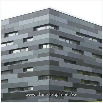 Modern exterior wall cladding materials compact laminate for Exterior wall construction materials
