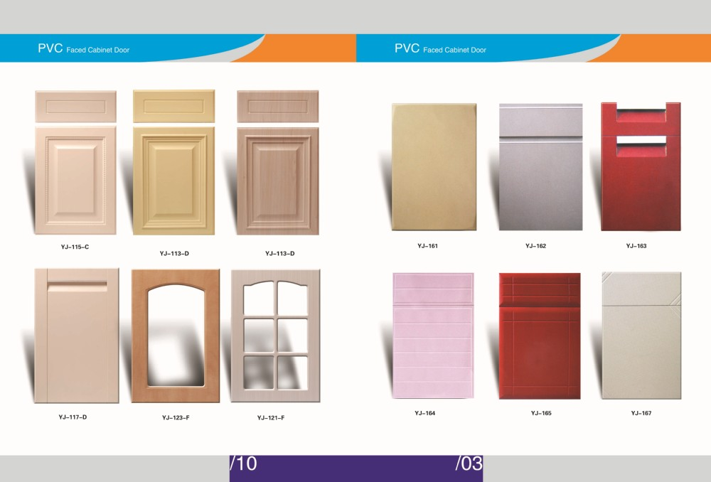 Maple Wood Grain Pvc Coated Mdf Carved Cabinet Door Kitchen