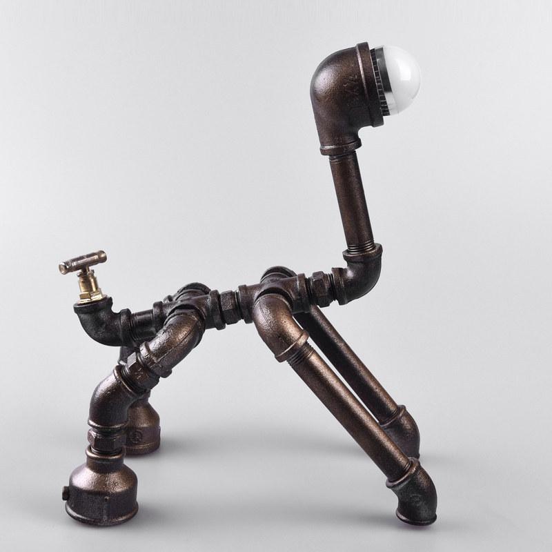 6.25-2 robot perro tubos de lámpara hecha a mano de encargo diseño ...