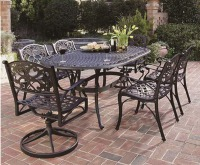 Top sale Outdoor Patio Furniture 7PCS Dining Set Cast Aluminum Table Set