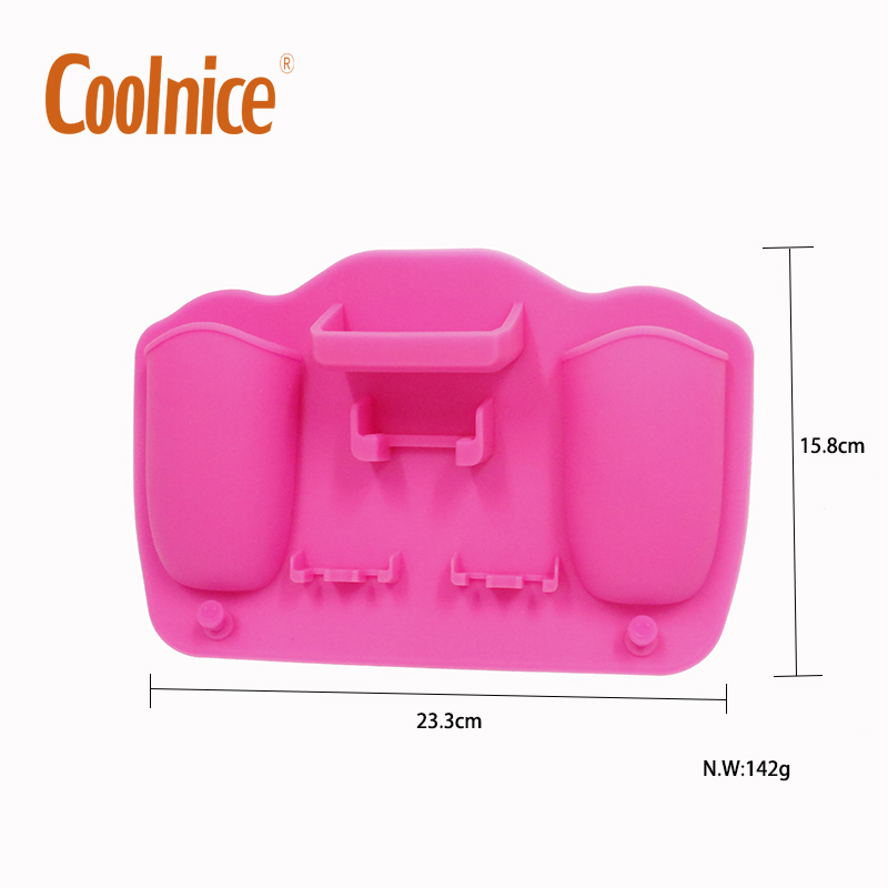 Bathroom Wall Mounted Non-toxic Silicone Toothpaste cosmetics smile face Toothbrush Holder
