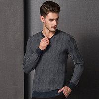 mens jacquard v neck pullover sweater,fashion mens pullover, cotton cashmere sweater