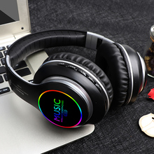 Wireless ha condotto la luce pieghevole cuffie over ear auricolari con cancellazione del rumore super bass auricolare