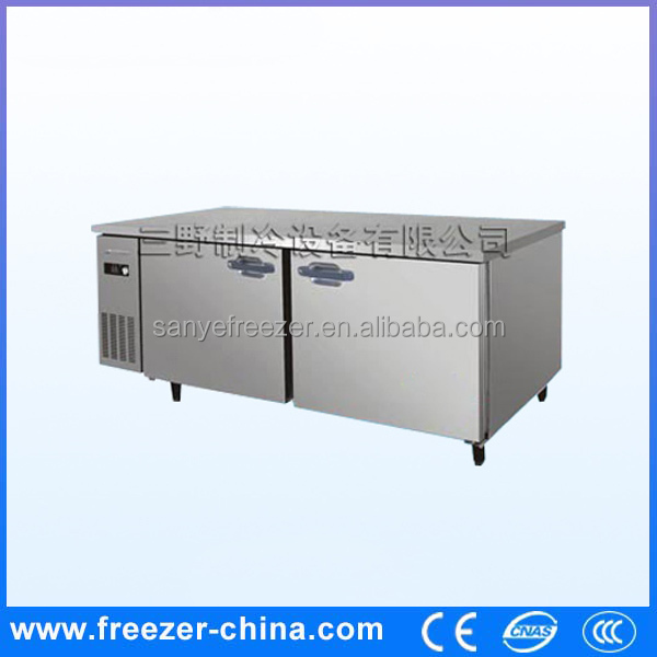 Easy to clean workbench freezer used commercial freezer refrigerator