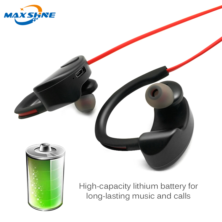 Maxshine anti-radiation all brand stereo blue tooth headset, Sport Ear Hook blue tooth Headset
