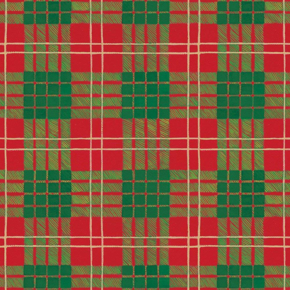 Entertaining with Caspari Continuous Gift Wrapping Paper, Caspari Tartan, 8-Feet, 1-Roll