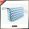 China factory Personalized 3 in 1 blue and white Chevron baby Diaper Bag