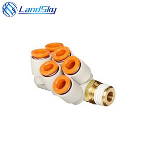 Landsky S MC miniature brass fittings Pneumatic Fitting/Air Fitting KQ2ZD Series