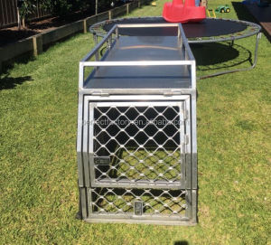 New Design Aluminium UTE Dog Cage With center gate divider