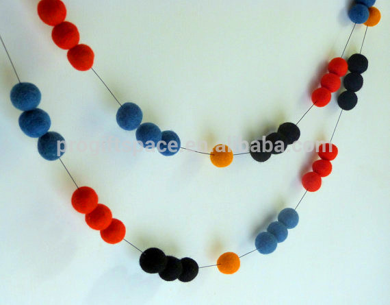 High Quality Handmade 100 Wool 2cm Diy Felt Ball Necklace Wholesale