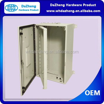 OEM Electrical Enclosure Locking Panel Box Galvanized Steel Outdoor
