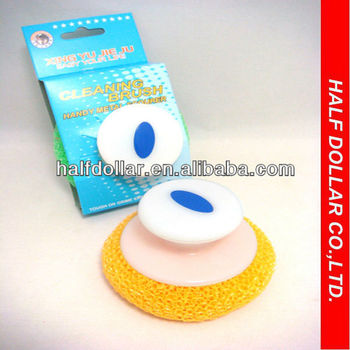 Kitchen Cleaning Scrubber/cleaning Mesh Dish Scrubber With Handle ...