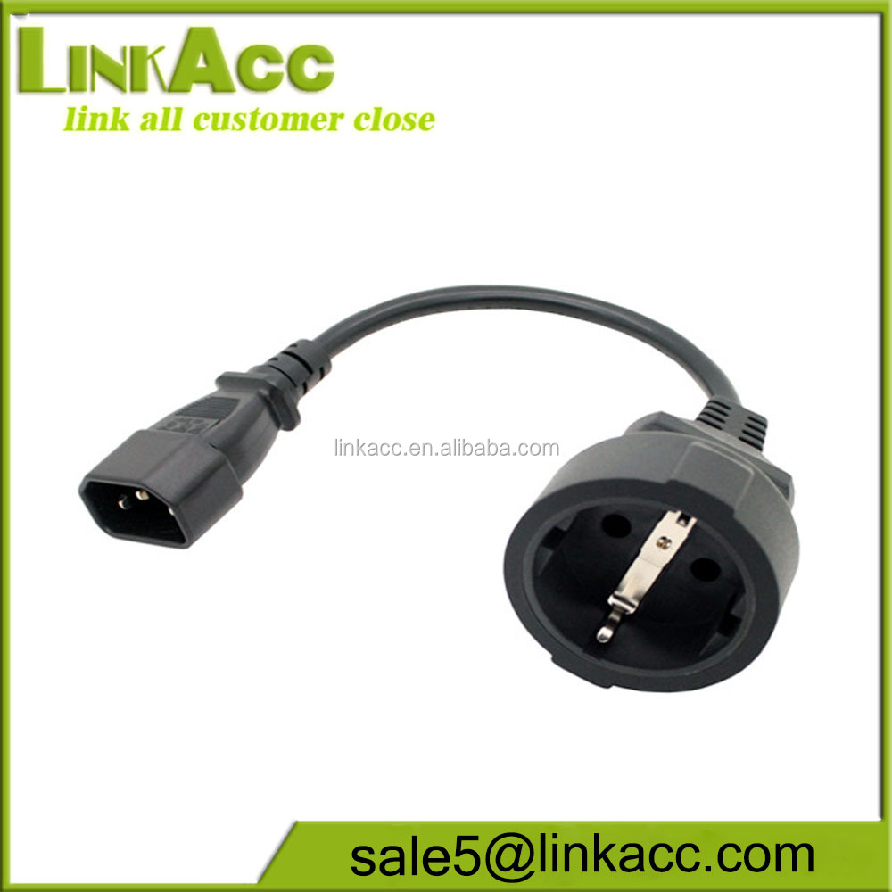 LKCL25 Transceiver extension C14 TO EU schuko plug power cord