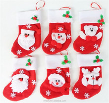 Wholesale Snowman Deer Pendant Chrismas Tree Christmas Gift Santa claus Christmas Decoration Socks