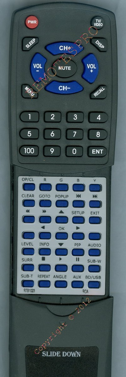 RCA Replacement Remote Control for RTB1023