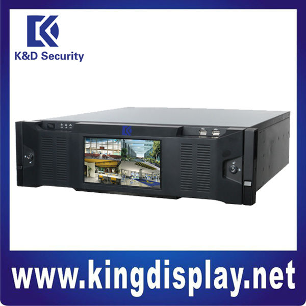 1080P realtime 128 channels Front LCD display nvr for security system