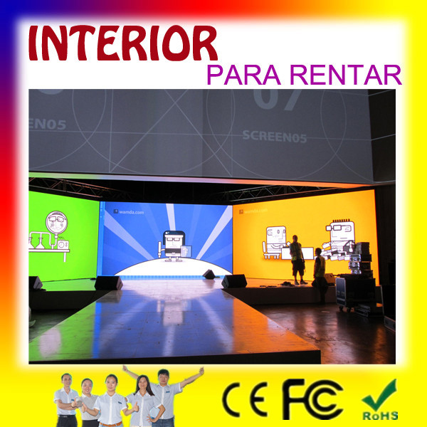 Sunrise p2p3p6 favorable indoor rental led screen, clear as TV