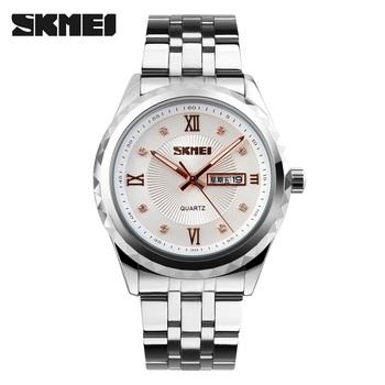 52a8fb5893d5 Azul del reloj Skmei marca Japón mvmt 9100 reloj de acero inoxidable para  hombre analógico de