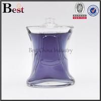 charming elegant painting colors violet round square crimp on neck spray empty perfume glass bottle 100 ml